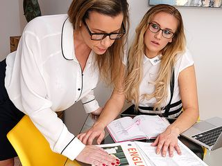 This ultra-kinky teacher has some super-naughty things she wants to do with her all dame schooldame