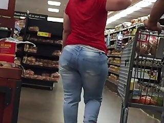 Bodacious cougar phat ass white girl mummy uber-cute denim donk