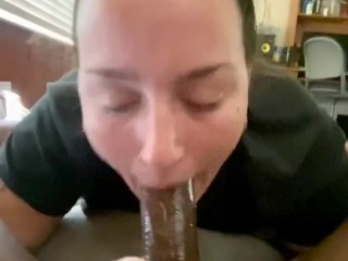 'Breakfast and Head- phat ass white girl fellates great manmeat and gulps jizz '