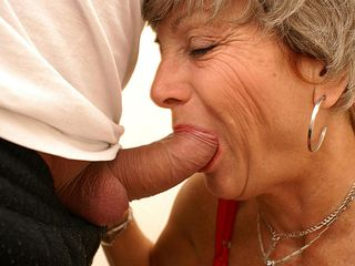 With her red panyties on mom gets pulverized on a public toilet
