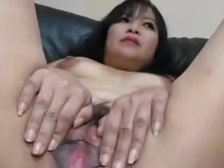 Adult Asian gets pussy practice