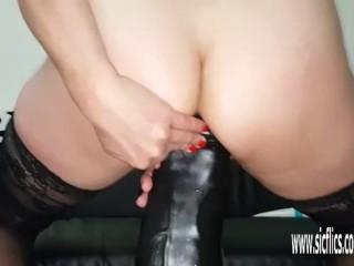 Gargantuan faux-cock ravaging inexperienced wifey Sarah