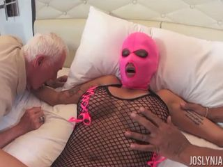 Joslyn James tied Up While 4 guys Do What They Want interracial
