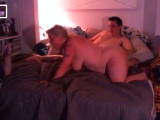 Hubby films plumper wifey being penetrate by school dweeb