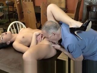 DADDY4K. Aged proprietor of pub satiates needs together with son's super-hot girlfriend