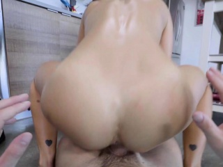 Insane big-titted cougar step-mother cooks a stepsons big shaft