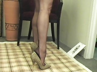 Chocolate-colored stocking sole taunt ( Toe opened up )