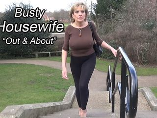 Huge-titted Housewife Out And About