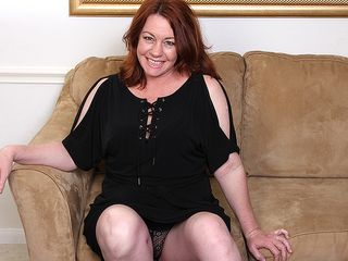 Wool adorned mature american lady luvs to have joy with her vulva