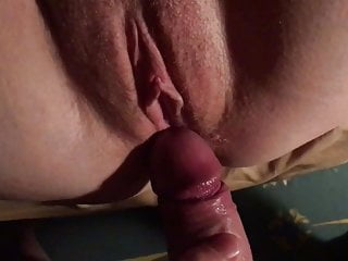 Ginger wifes cock-squeezing beaver packed