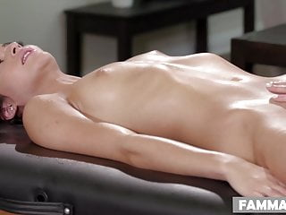 Open Minded Step stepdaughter Gets a rubdown