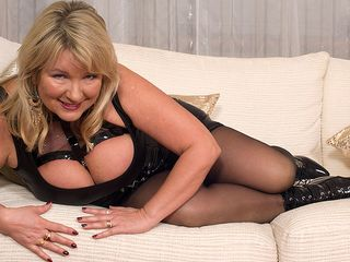 British monstrous breasted housewife goes naughty