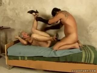 Granny porn eminence Norma tries BDSM.