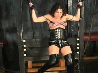 Bare wifey freaky home porno in coarse restrain bondage gigs
