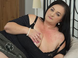Insane housewife showcases enormous melons while sucking and fuckin'