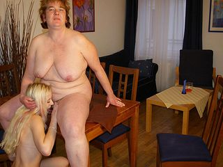 Phat mama having fun with one super-hot young honey