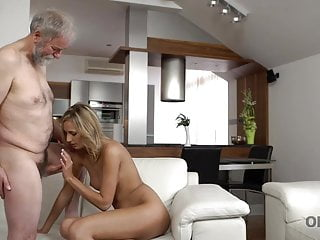 Aged4K. Fresh morning embarks for blondie and her aged hubby...