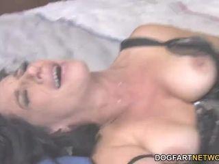 Milf Melissa Monet pounds Rico Strong's big black cock