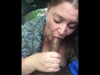 Plumper fellating big black cock on lunch break 2