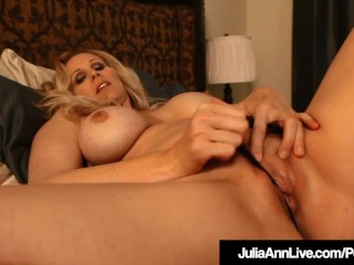 World well-known cougar Julia Ann fuck stick pulverizes Her super-hot mouth-watering twat!