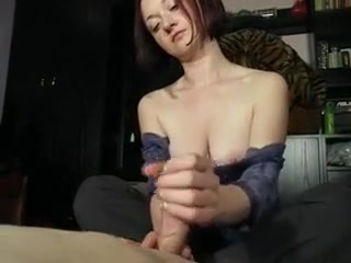 Fat-titted Housewife leisurely But Steadily drains Off A fat fuck-stick P