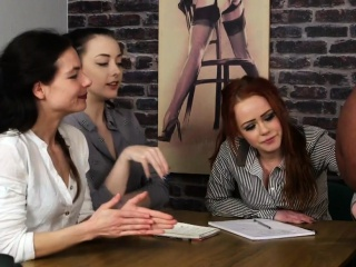 Enticing bdsm babes tugging outrageous guys blarney
