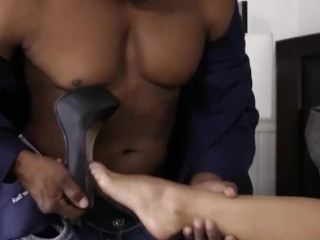 Interracial Creampie down Bigass strife = 'wife' Katrina tunnel