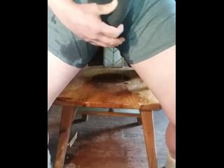 Boy desperate to urinate wets in undeewear