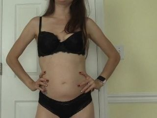 'Female dominance slutty assistant stunner predominant and taunting & denying you in underwear after fondle day at work - Lelu Love'