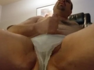 Dressed in my wife's undies and milking Part12