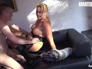 'ReifeSwinger - super-naughty German Mature blond Gets Her taut puss wedged With A giant Dick'