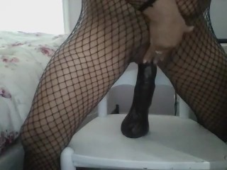 Wifey strokes with fat faux-cocks