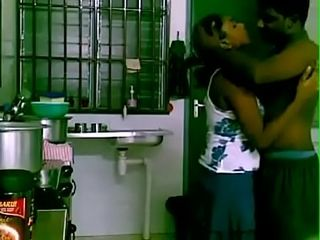 Tamil female bang-out with building holder