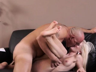 Elderly santa clause and mature hard-core wild platinum-blonde wants to attempt s