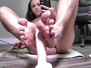 Fake penis foot wank lll