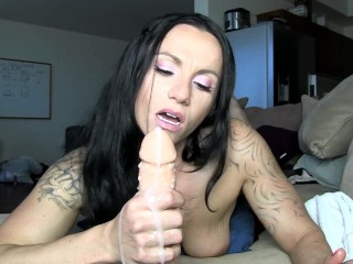 'JOI point of view hand-job with sole Fetish'