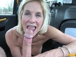Coitus addicted gilf Molly poked like a street mega-slut in cab cab